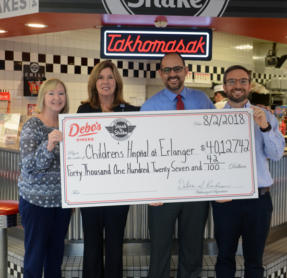Local Steak 'n Shake Franchise Donates $40,000 To Erlanger's Believe Campaign
